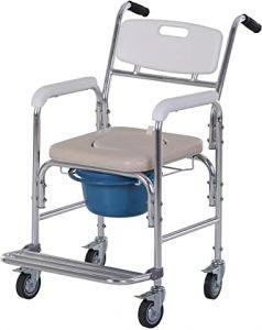 chaise percée à roulettes